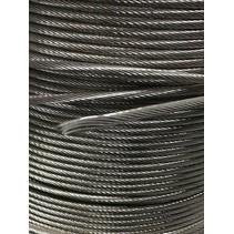 Staalkabel / staaldraad RVS 6 mm