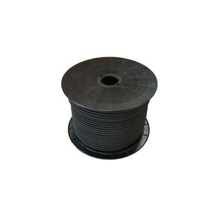 Seilflechter Shockcord / Elastiek 4 mm Zwart Haspel 100 m