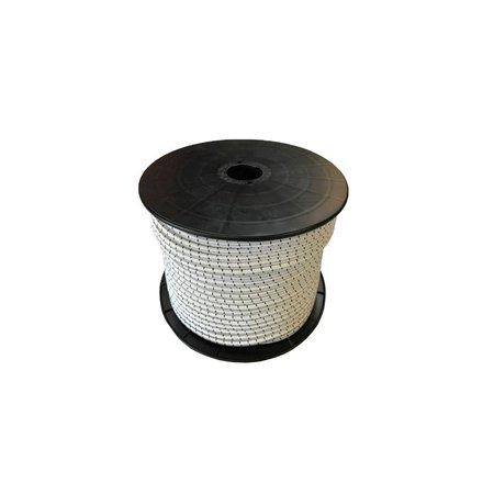 Shockcord / Elastiek 10mm Wit Haspel 100 m