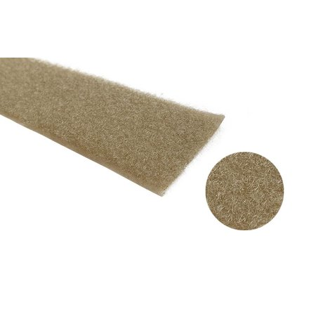 Klittenband Beige 50 mm Haak (Zacht). Prijs per meter.