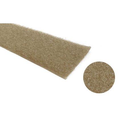 Klittenband Beige 50 mm Lus (Zacht). Prijs per meter.