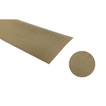 Klittenband Beige 50 mm Haak (Hard). Prijs per meter.