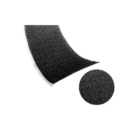Klittenband Zwart Haak (Hard). Prijs per meter.
