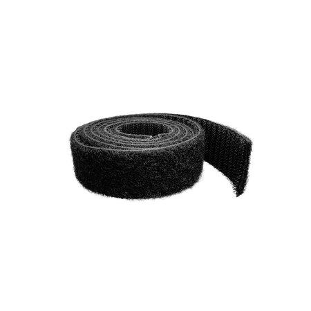 Klittenband Back-to-Back Zwart 25 mm (Haak & Lus). Aan 1 kant lus en aan de andere kant haak. Prijs per meter.