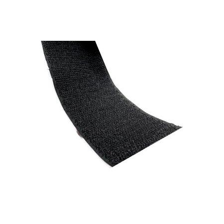 Klittenband Zwart Haak (Hard) Zelfklevend. Prijs per meter.