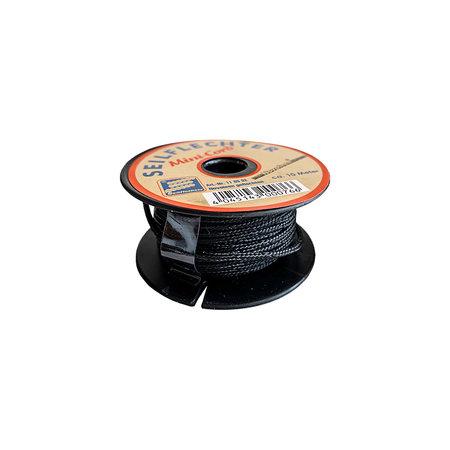 Seilflechter Touw Minicord Novoleen dikte 2 mm op spoel 10 m Zwart