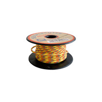 Touw Minicord Novoleen dikte 2 mm op spoel 10 m Geel-Rood