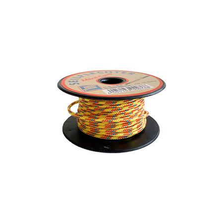Seilflechter Touw Minicord Novoleen dikte 2 mm op spoel 10 m Geel-Rood