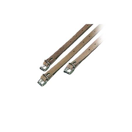MH Lederen / leren riem met gesp 60 cm Lengte x 22 mm breedte