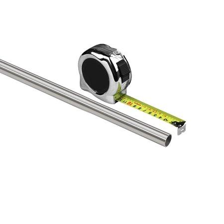 Buis RVS 22mm per cm voor u op maat gezaagd. Wanddikte 1,5 mm, Exclusief lengte transport toeslag > 115 cm van € 62,00