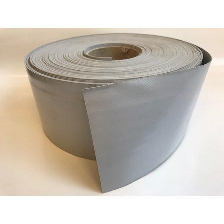 Mehler Polymar 8800 mat grijs 620 gr/m2 PVC doek rolbreedte 10 cm. Minimale afname 10 meter.