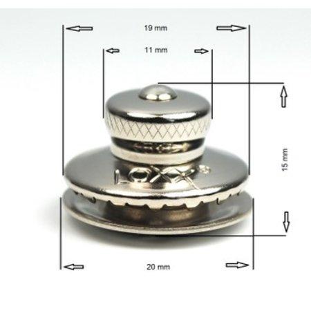 Loxx (Tenax) Duits kop KLEIN Koper-Vernikkeld 11 mm Origineel! Made in Germany.