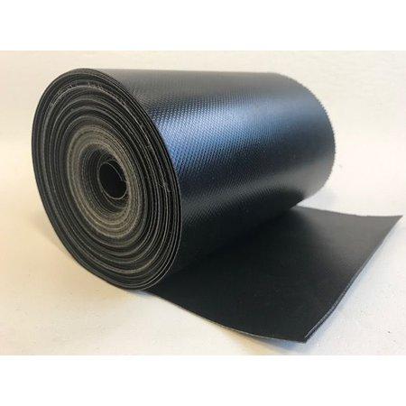 Mehler Polymar 8818 Mat Zwart 680 gr/m2 PVC doek rolbreedte 21 cm. Minimale afname 10 meter.