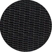 Polypropyleen (PP) band zwart 50 mm breed. Voor tassen, draagbanden en riemen. Prijs per meter.