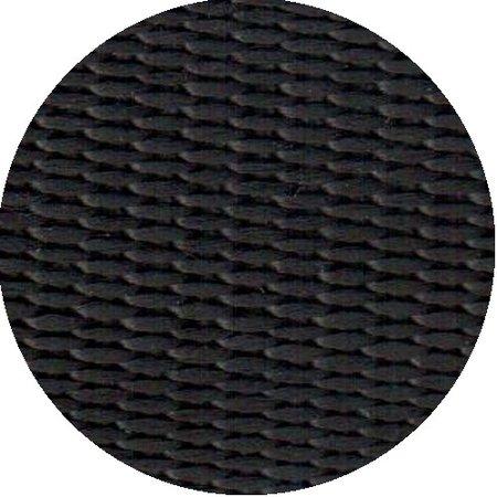 Polypropyleen (PP) band zwart 20 mm breed. Voor tassen, draagbanden en riemen. Prijs per meter.