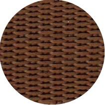 Polypropyleen (PP) band bruin 20 mm breed. Voor tassen, draagbanden en riemen. Prijs per meter.