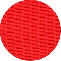 Polypropyleen (PP) band rood 20 mm breed. Voor tassen, draagbanden en riemen. Prijs per meter.