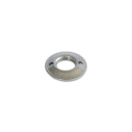 Loxx (Tenax) Duits Tegenplaat EXTRA HOOG voor kop Koper-Vernikkeld 15 mm Orgineel! Made in Germany. Dit tegenplaatje verhoogt de ruimte tussen kop en tegenplaat met 1 mm.