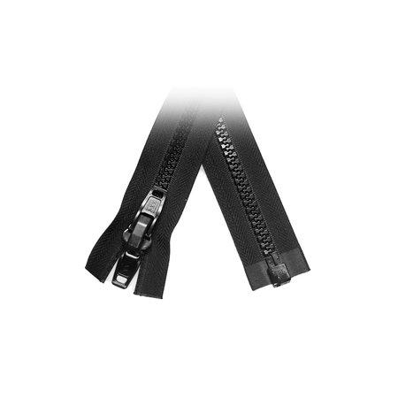 YKK Rits Bloktand 10 mm deelbaar Zwart