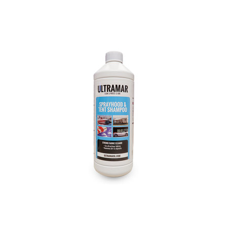 Ultramar Sprayhood & Tent shampoo 1 liter.De fles wordt zonder sproeikop geleverd.