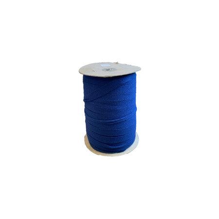 Markilux Boordband / Biesband Marine Blauw acryl 20 mm. voor het afbiezen van onafgewerkte doekranden. Prijs per meter. 30 % korting bij bestelling 170 m (haspel)!