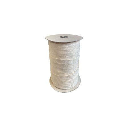Markilux Boordband / Biesband Ecru acryl 20 mm.  voor het afbiezen van onafgewerkte doekranden. Prijs per meter. 30 % korting bij bestelling 170 m (haspel)!