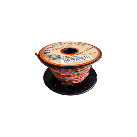 Seilflechter Touw Minicord Novoleen dikte 2 mm op spoel 10 m Rood-Blauw