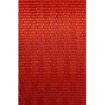 Veiligheidsgordelband / autogordelband Rood 48 mm. Per meter. 11-baans geweven.