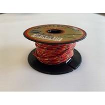 Touw Minicord Novoleen dikte 2 mm op spoel 10 m Rood-Geel-Blauw