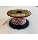 Seilflechter Touw Minicord Novoleen dikte 2 mm op spoel 10 m Wit-Rood-Blauw