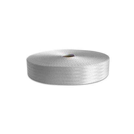 Veiligheidsgordelband / autogordelband Wit 50 mm. Per meter.