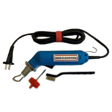 Seilflechter Touwsnijder / Afbrandpistool 220 Volt, 60 Watt. Compleet inclusief mes.