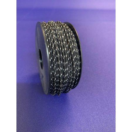 Dyneema Touw 1,5mm op spoel 40 m. Zwart Multicolor.