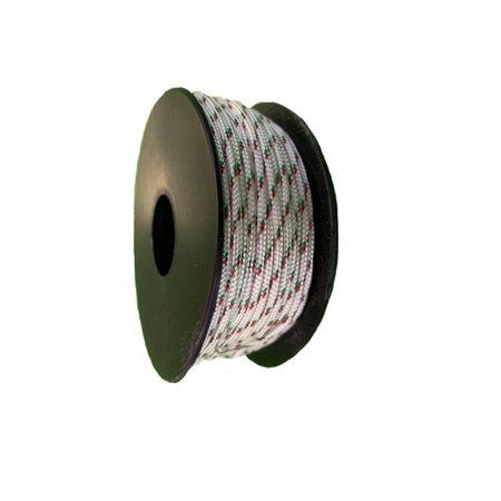 Polyester Touw 2 mm Wit Multicolor op spoel 30 m