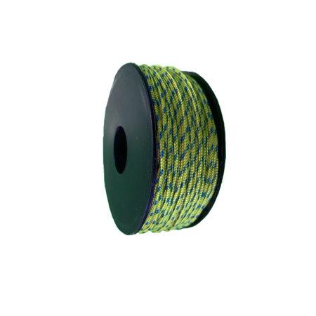 Polyester Touw 2 mm Geel Multicolor op spoel 30 m