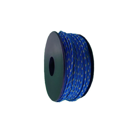 Polyester Touw 2 mm Blauw Multicolor op spoel 30 m