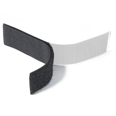 Klittenband Zwart Lus (Zacht). Prijs per meter.