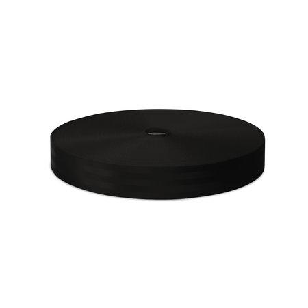 Veiligheidsgordelband / Autogordelband Zwart 48 mm rol 100 meter. Verwachte leverdatum: 3e week mei.