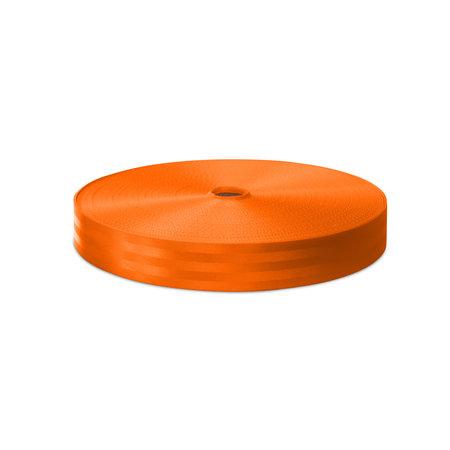 Veiligheidsgordelband / Autogordelband Oranje 48 mm rol 100 meter. Verwachte leverdatum: 3e week mei.