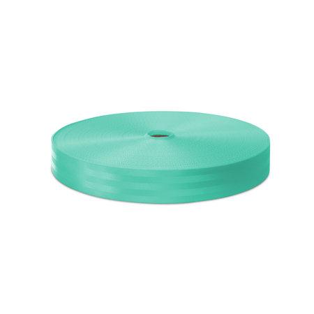 Veiligheidsgordelband / Autogordelband Turquoise 48 mm rol 100 meter. Verwachte leverdatum: 3e week mei.