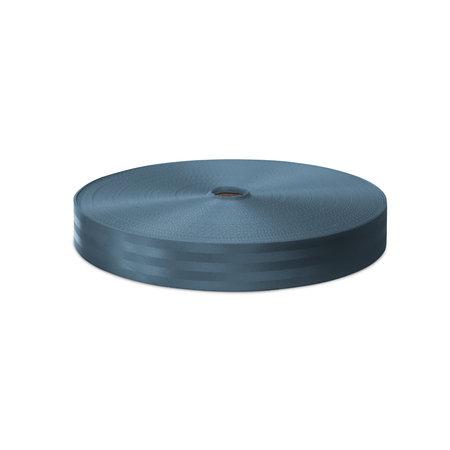 Veiligheidsgordelband / Autogordelband Grijsblauw 48 mm rol 100 meter. Verwachte leverdatum: 3e week mei.