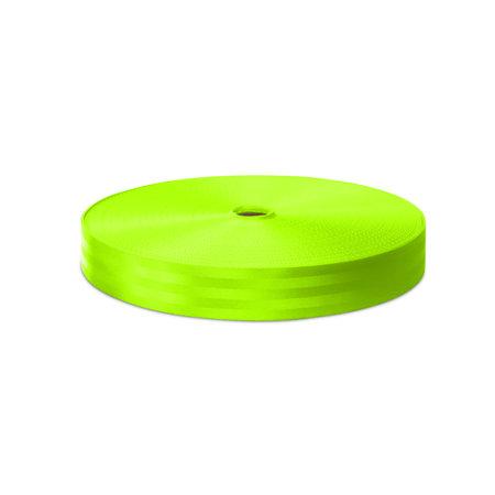 Veiligheidsgordelband / Autogordelband Fluorescerend Groen 48 mm rol 100 meter. Verwachte leverdatum: 3e week mei.