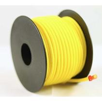 Polyester touw 3mm op spoel 17 m. Geel Unicolor