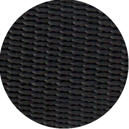 Polypropyleen (PP) band zwart 10 mm breed. Voor tassen, draagbanden en riemen. Prijs per meter.