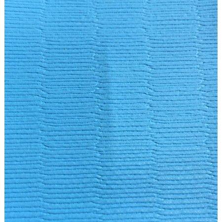 Tatami vloer PVC doek rijstmotief 125 cm breedte. 750 gr/m2 lichtblauw. Maak je eigen dekzeil voor je dojo!