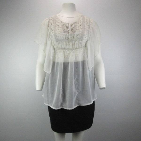 Doorzichtig blouse (36)