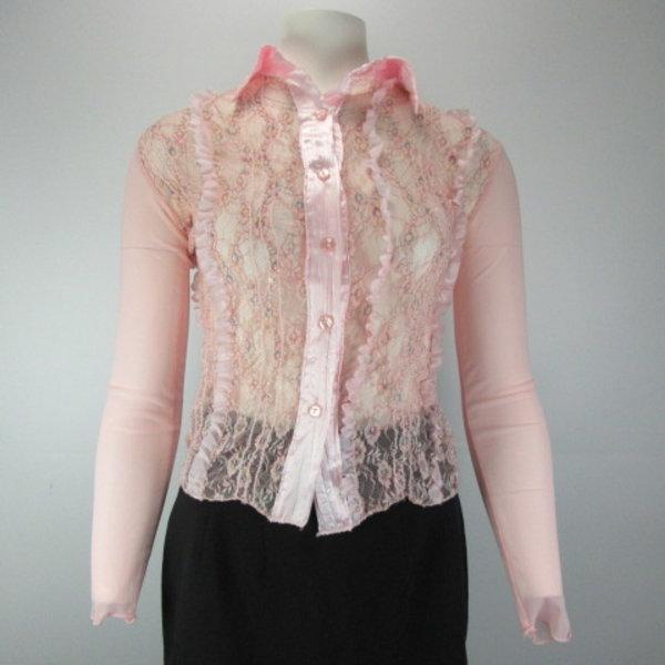 Roze blouse (S)