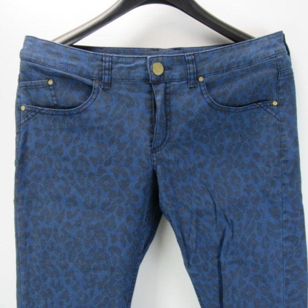 Blue leopard jeans (38)