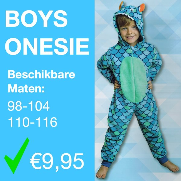 Boys shark onesie (98 t/m 116)