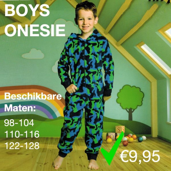 Boys onesie (98 t/m 128)